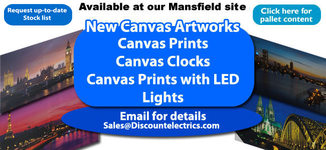 led canvas artwork and clocks
