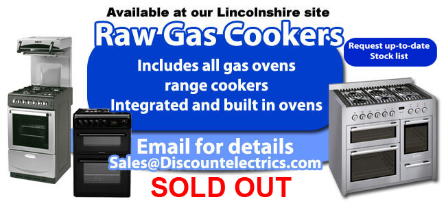 Raw Gas ovens range cookers integrated and built in