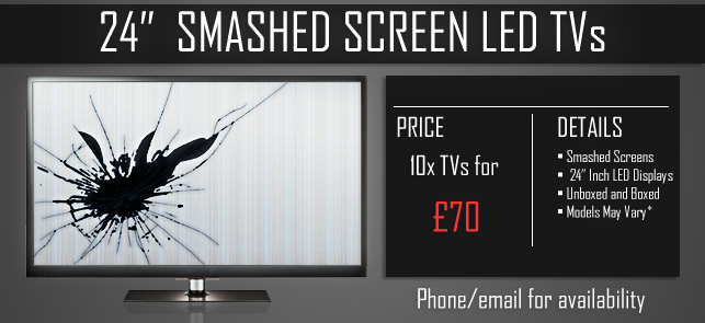 TVs with Smashed 24 Inch Screens