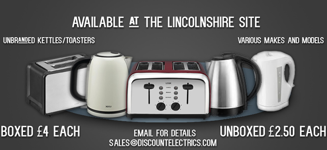 unbranded kettles and toasters stock