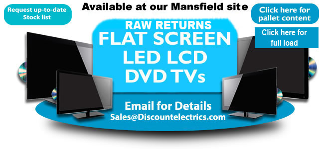 pallet load flat ccreen led lcd tvs