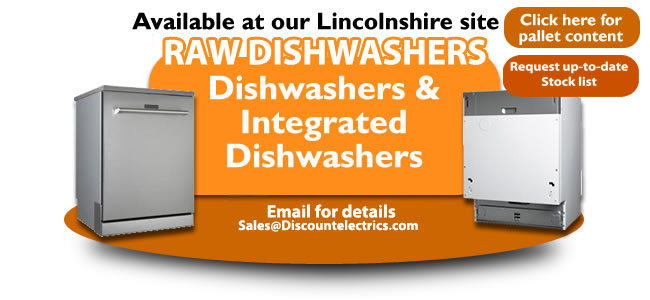 raw integrated dishwashers pallet load