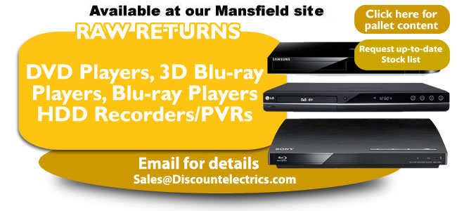 raw returns dvd players, 3d players, blu-ray players, hdd recoreders, pvrs