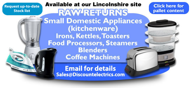 raw returns kitchenware domestic appliances pallet