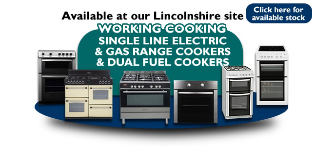 Single Line Working Gas & Electrics Cookers