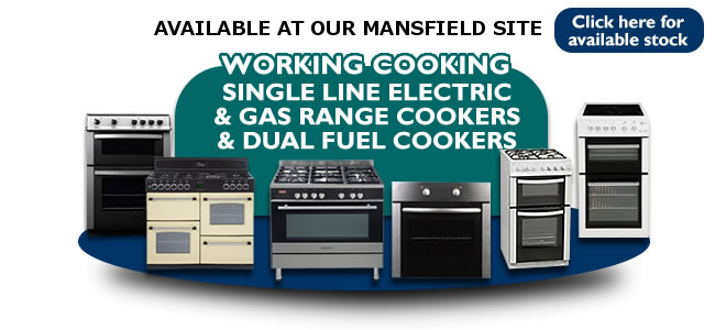 Single Line Working Gas & Electrics Cookers Mansfield