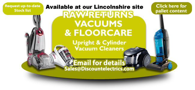 raw returns vacuum cleaners and floorcare pallets