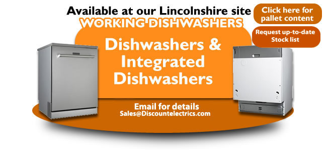 working integrated dishwashers pallet load