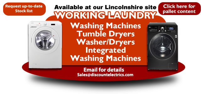 working washing machine tumble dryer pallet load